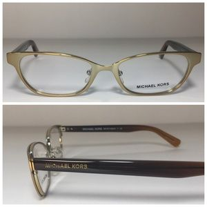 Michael Kors Brown Gold Eyeglasses Frames NWOT